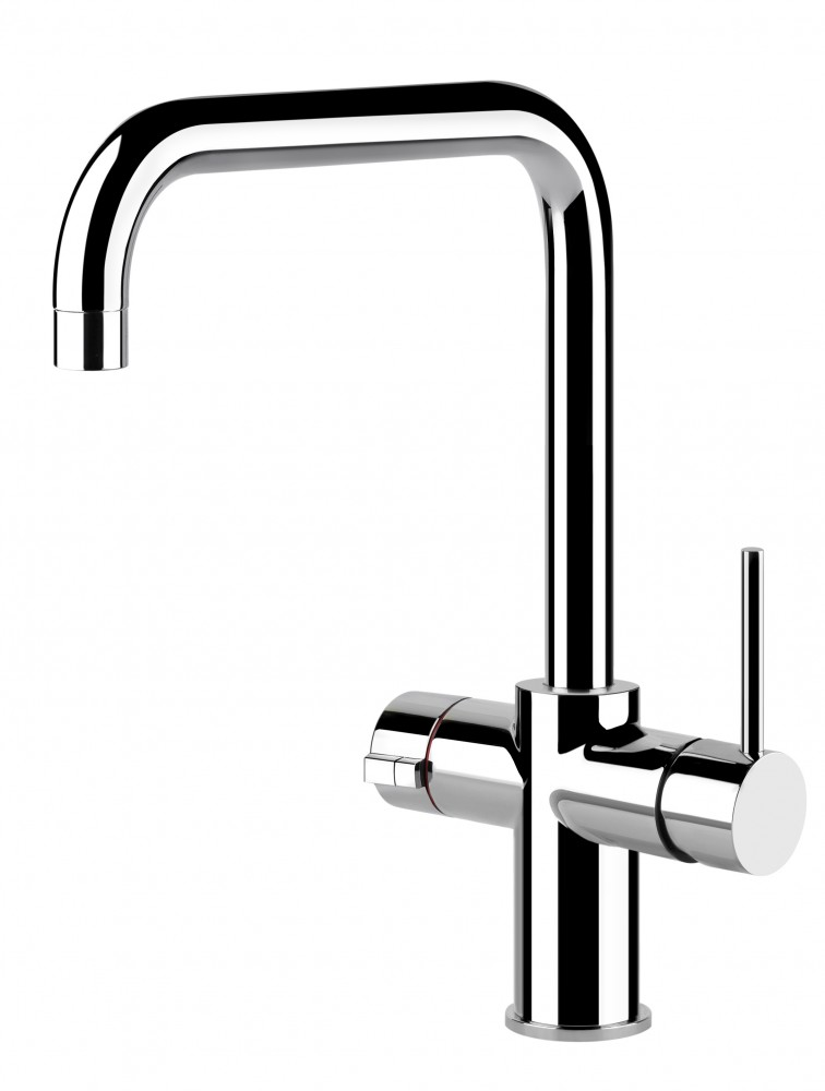 Gessi 3 in 1 Instant Hot water Tap Chrome U Spout