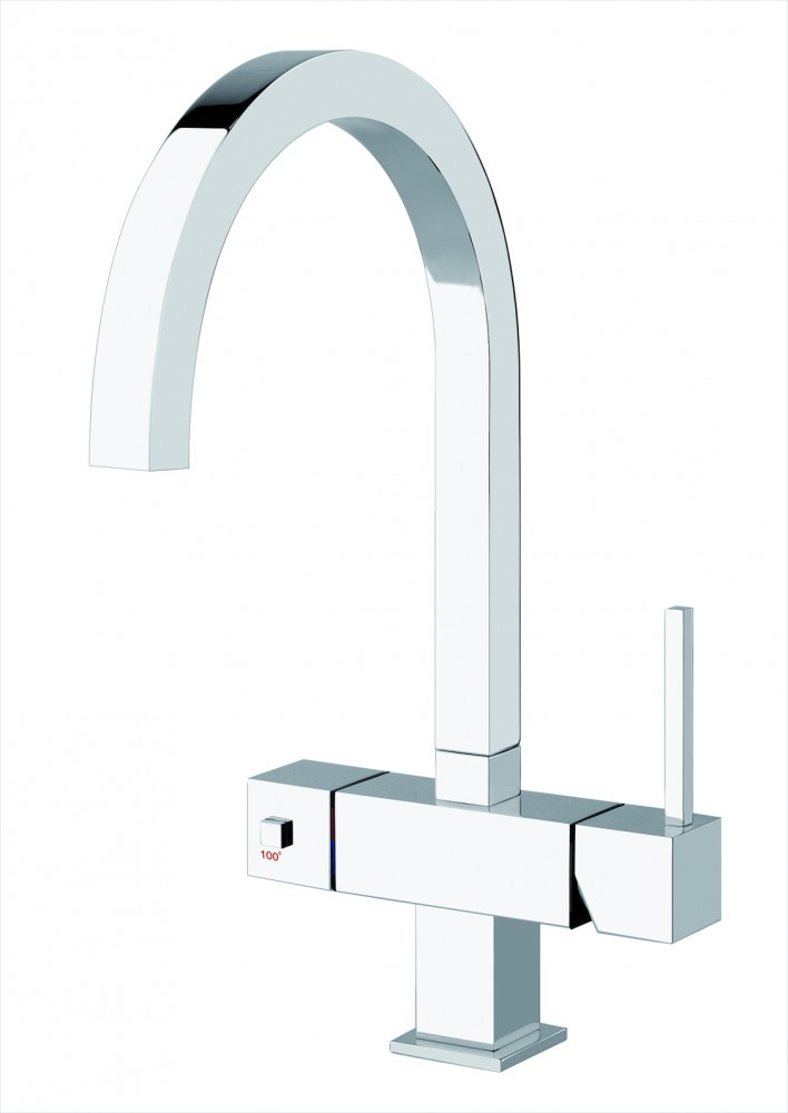 Gessi Quadro 3 in 1 Instant Hot Water Chrome
