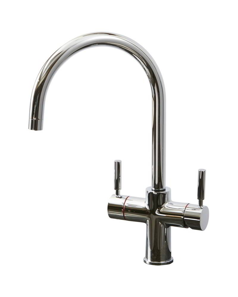 Geyser 3 in 1 Chrome Instant Hot Water Tap J Spout