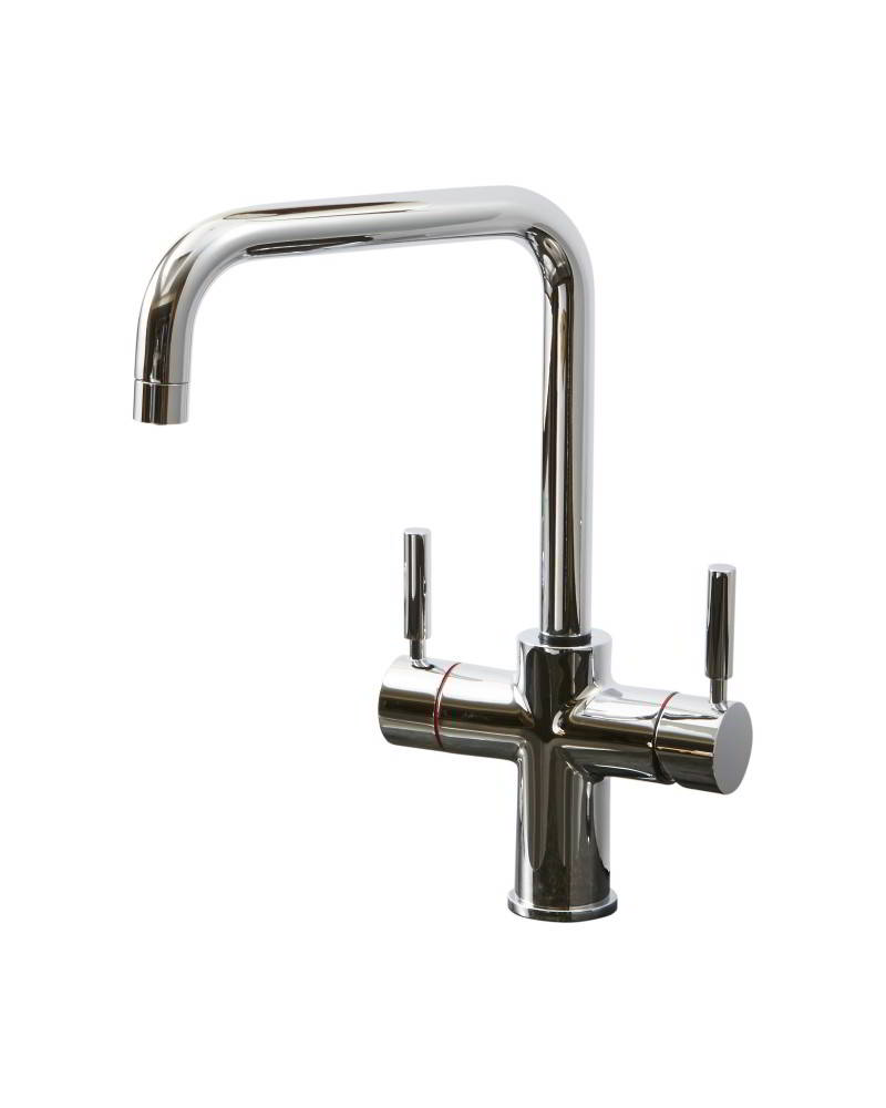 Geyser 3 in 1 Chrome Instant Hot Water Tap U Spout