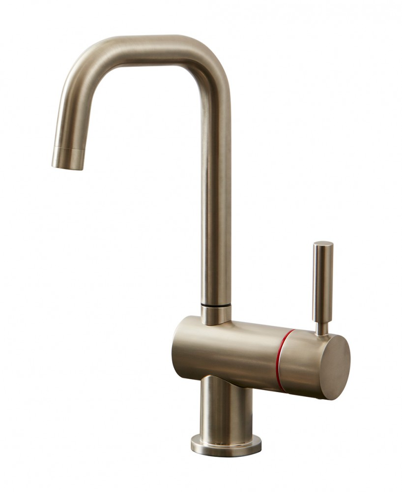 Geyser Single Brushed Nickel Instant Hot Water Tap U Spout